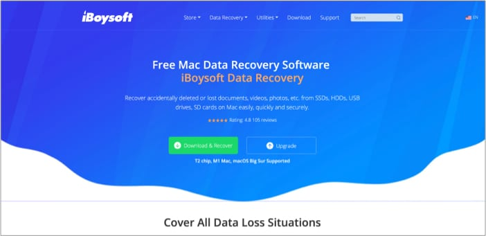 Download iBoysoft Data Recovery on Mac