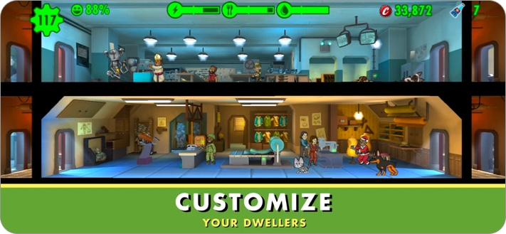 Fallout Shelter strategy game for iPhone and iPad