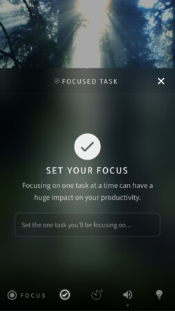 Focus mode Portal app for iPhone and iPad