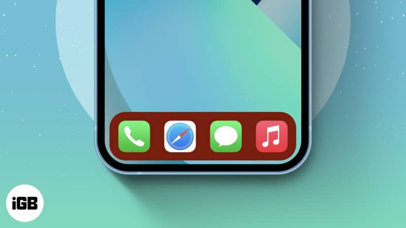 How to change the Dock color on iPhone and iPad