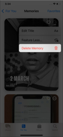 How to delete a Memory from the Photos app on iPhone and iPad