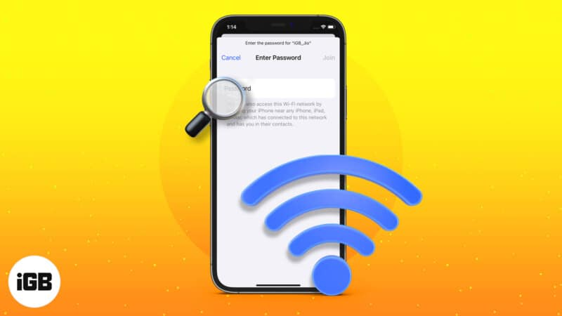 How to find Wi-Fi password on iPhone