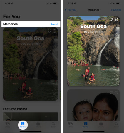 How to view Memories on iPhone
