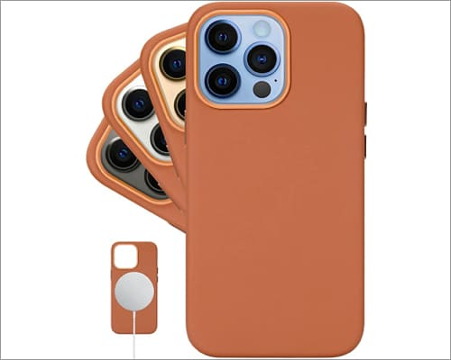 LONLI classic leather case for iPhone 13 and iPhone 13 Pro