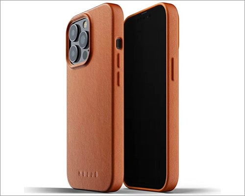 Mujjo full leather case for iPhone 13 and iPhone 13 Pro
