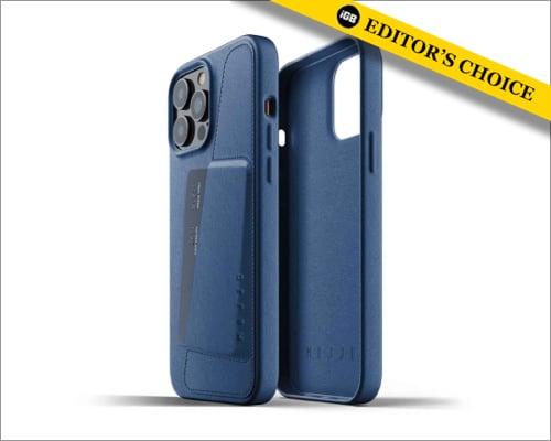 Mujjo Vollleder Brieftasche Hülle für iPhone 13 Pro Max