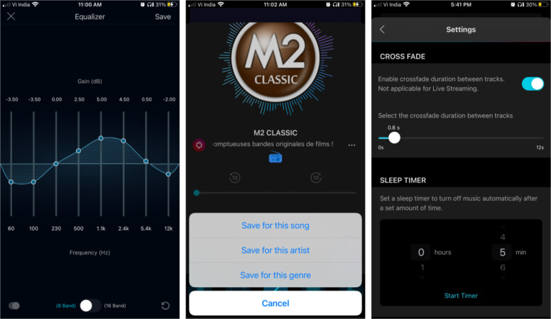 Personalise your music to your taste in Boom iOS app