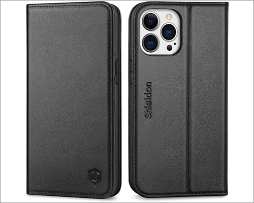 Shieldon leather case for iPhone 13 and 13 Pro