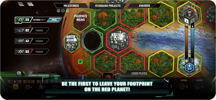 Terraforming Mars board game for iPhone and iPad