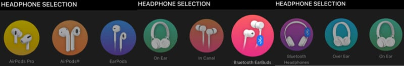 Variety of supported headphones with Boom iPhone app