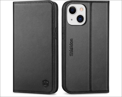 shiedon iphone 13 mini leather case