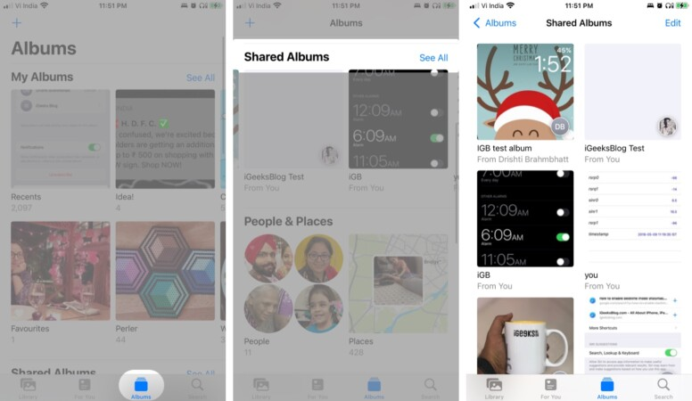 View Shared Albums on iPhone and iPad